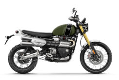Triumph Scrambler 1200 XE 2021 color matt khaki green 1