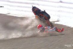 Caida Marc Marquez wam up MotoGP Jerez