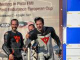 Moto Guzzi Fast Endurance European Cup 2021 carrera Vallelunga podium 2