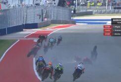 Accidente Moto3 Austin 2021