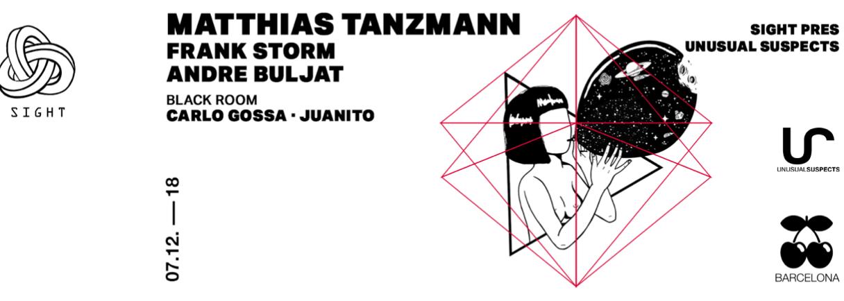 UNUSUAL SUSPECTS PRES. MATTHIAS TANZMANN, FRANK STORM & ANDRE BULJAT PACHA BARCELONA