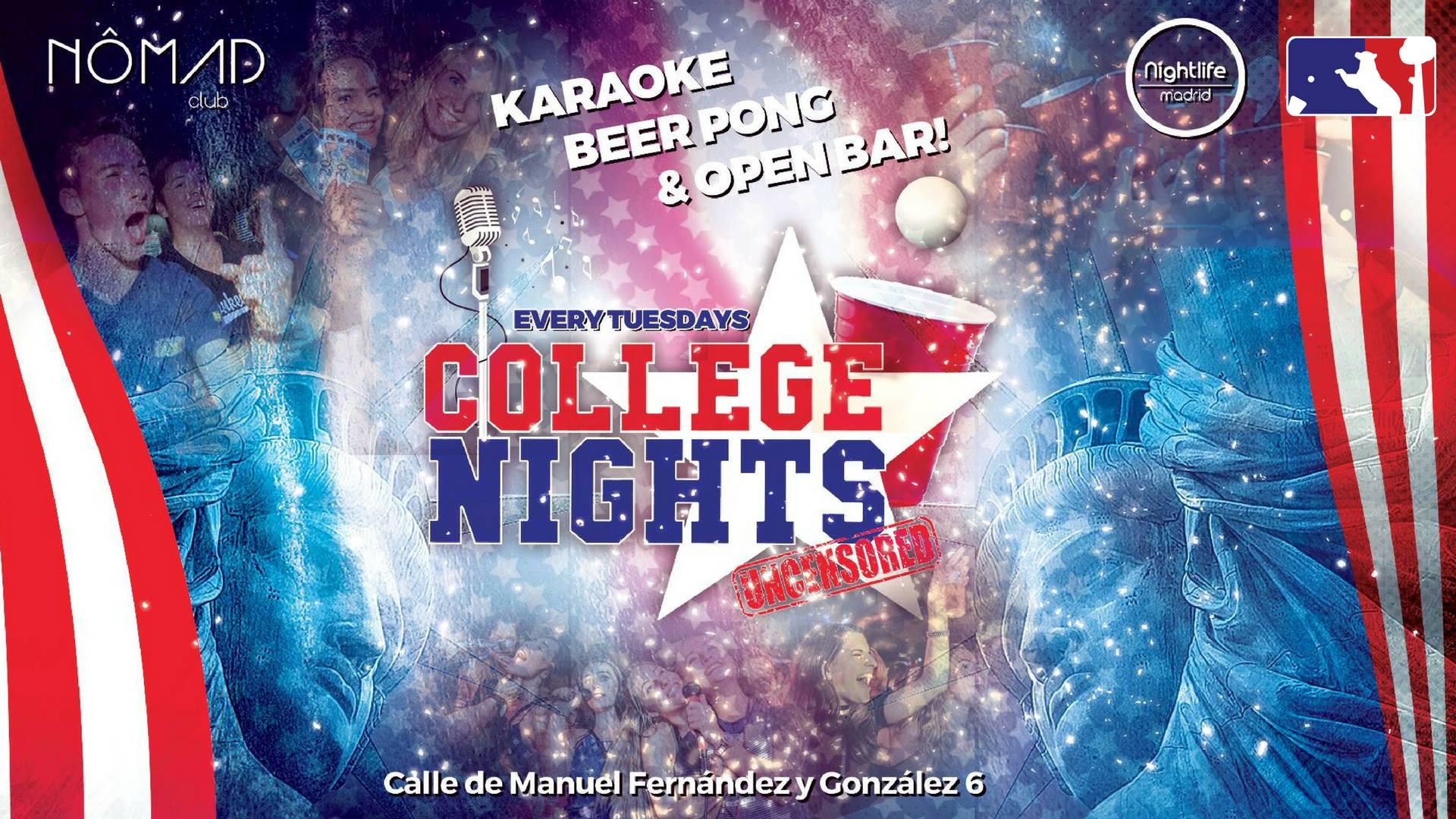 College Nights - Karaoke, Beer Pong & Open Bar - Club Nomad club