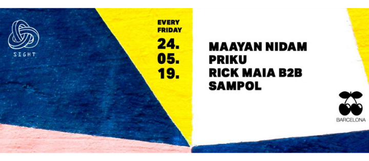 SIGHT pres. Maayan Nidam, Priku and Rick Maia b2b Sampol - Club Pacha Barcelona