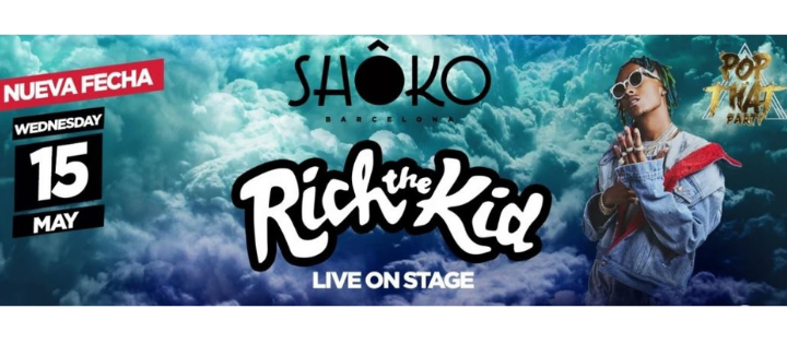 RICH THE KID - LIVE ON STAGE SHOKO BARCELONA