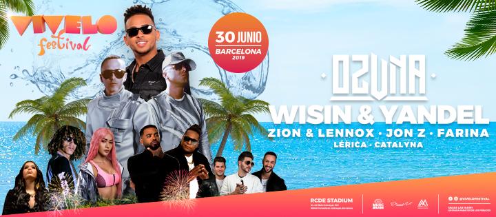 Vívelo Festival pres. OZUNA, Zion & Lennox, Wisin & Yandel - Club Vivelo Festival