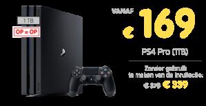 Playstation Pro GameMania vanaf €169 dmv inlevering PS4 console