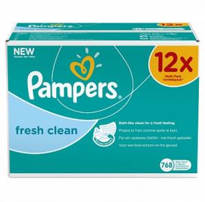 Pampers Billendoekjes Baby Fresh Clean voordeelpack voor €14,24
