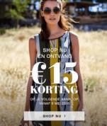€15 korting op je volgende aankoop