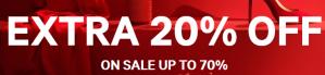 20% extra korting op  de sale tot 70% korting bij H&M
