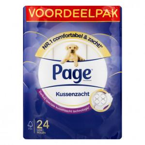 Page Kussenzacht toiletpapier 24 rollen voor €5,49