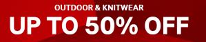 Countdown Black Friday deal met 50% korting op outdoor en knitwear + members 10% extra korting