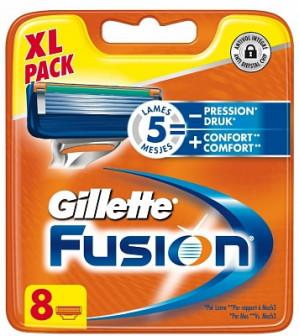 Fusion scheermesjes van Gillette 8 stuks voor €18,75