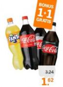Alle Coca Cola en Fanta 1L 1+1 Gratis