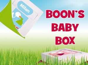 Gratis Boon's Baby box voor pasgeboren baby's