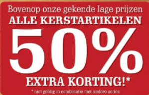 Van Cranenbroek sale met 50% extra korting op kerstartikelen