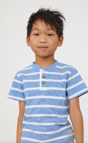 Kinder t-shirt in diverse kleuren en maten voor €1,99