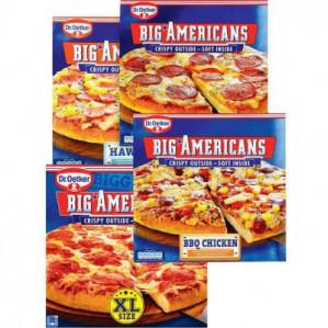 3 stuks big Americans pizza's voor €5