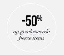 Hunkemoller sale met 50% korting op fleece artikelen