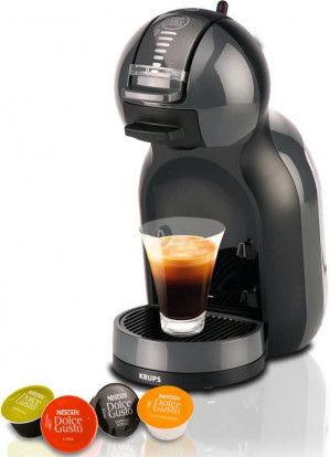 Koffiecupmachine Dolce Gusto Mini Me Auto Black/Grey KP120810 voor €39,95