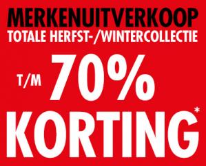 Piet Zoomers sale 70% korting op dames mode