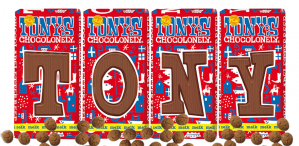 Tony's Chocolonely chocoladeletters voor €1