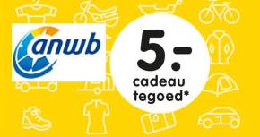 Voor leden van ANWB (web)winkel €5 cadeau dmv code