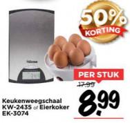 Inventum weegschaal of eierkoker voor €8,99
