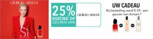 -25% korting op Giorgio Armani