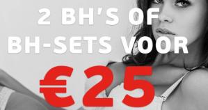 2 beha's of beha sets voor €25