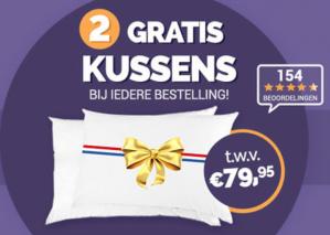 2 gratis kussens twv. €79,95 bij je bestelling