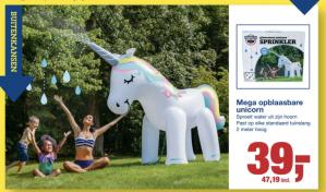 Opblaasbare unicorn 2 meter hoog voor €47,19