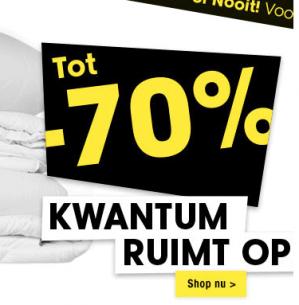 Kwantum sale tot 70 zelfs 90% korting, met artikelen vanaf €0,10