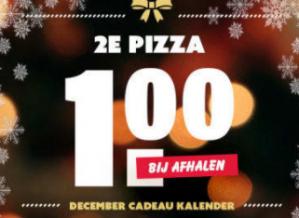 Domino's deals app 2e pizza voor €1