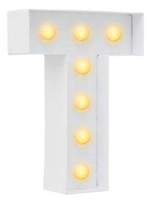 Diverse decoratie draadletters en letters met verlichting 1+1 Gratis