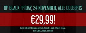 O.a. Hilfiger en Karl Lagerveld Colberts voor €29,99