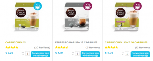 Tot 20% korting op Dolce Gusto capsules