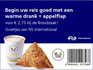 Warme Appelflap + Warme drank voor 2,75 euro bij de Broodzaak