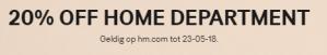 H&M sale met 20% korting incl. de sale
