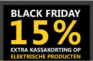 Black Friday bij Kookwinkel met 15% extra kassakorting op alle elektrische apparaten kookwinkel.nl ( Oldenhof )
