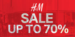 Sale H&M: tot 70% korting