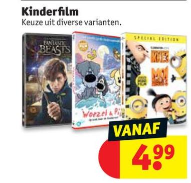 Diverse kinderfilms vanaf €4,99