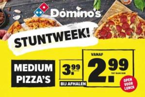 Medium pizza's voor €2,99