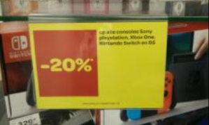 Consoles en games 20% korting bij Carrefour in België