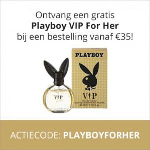 Gratis Playboy for Her parfum gratis bij je bestelling