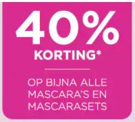 Diverse mascara's 40% korting