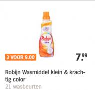 3 flessen Robijn voor 9 euro ( normaal 7,99 euro per fles )