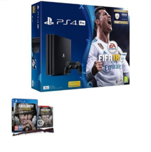 Sony PlayStation 4 Pro 1TB FIFA 18 - Ronaldo Edition  + Call of Duty: WWII voor €350