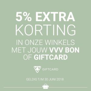 Met VVV bon of giftcard 5% extra korting bij The Little Green Bag