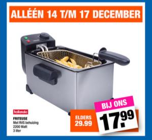 Friteuse met rvs behuizing 3 liter voor €17,99