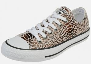 Converse All Stars leren sneakers met slangenprint voor €24,90